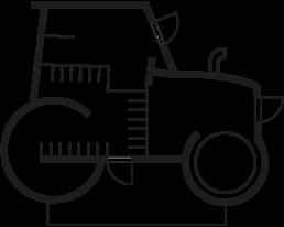 Grundriss Traktor